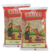 Chakra Rice Flakes Red 500 Grams (Poha)